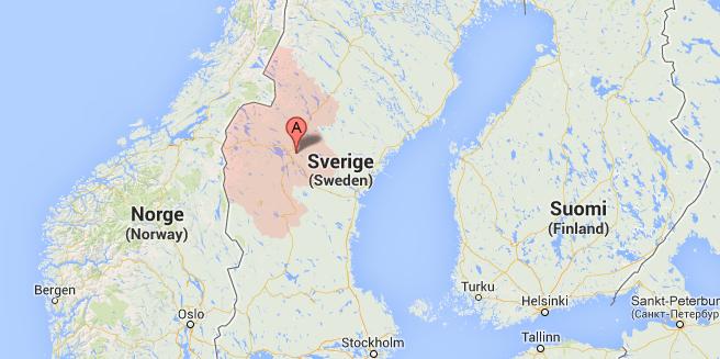 karta på Jämtlands län
