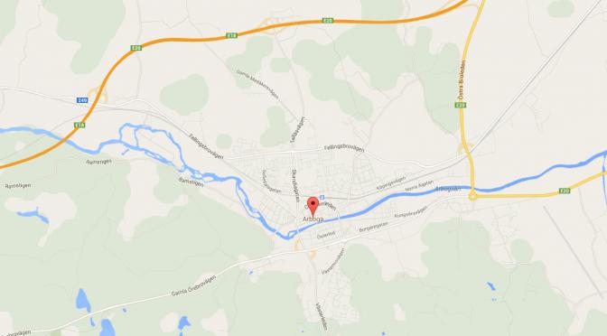 Karta på Arboga