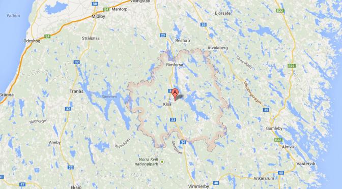 Kinda kommun karta