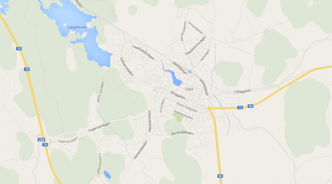 Karta över Sala