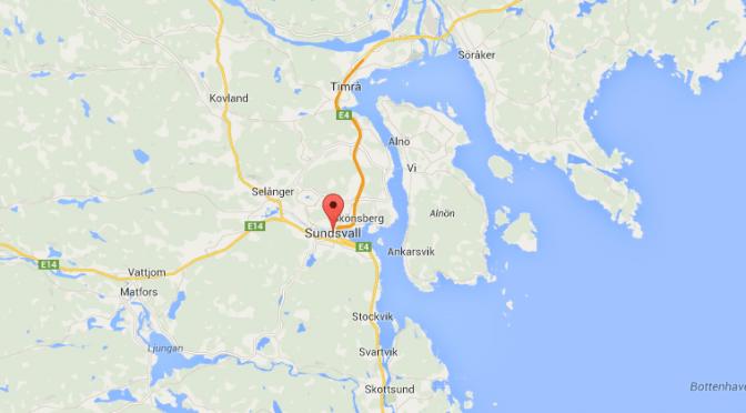 Karta på Sundsvall